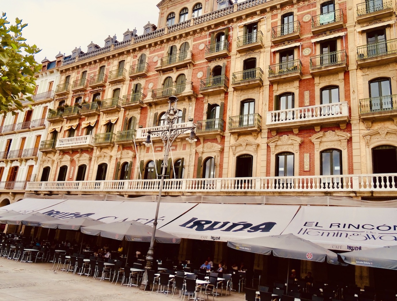 Cafe Iruna Pamplona.
