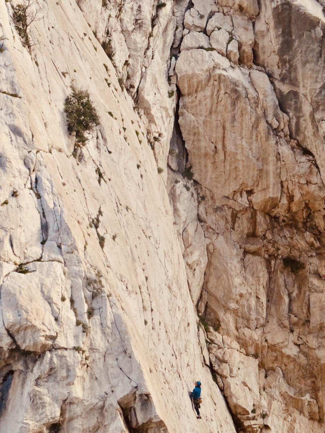 Climbing El Chorro Gorge.