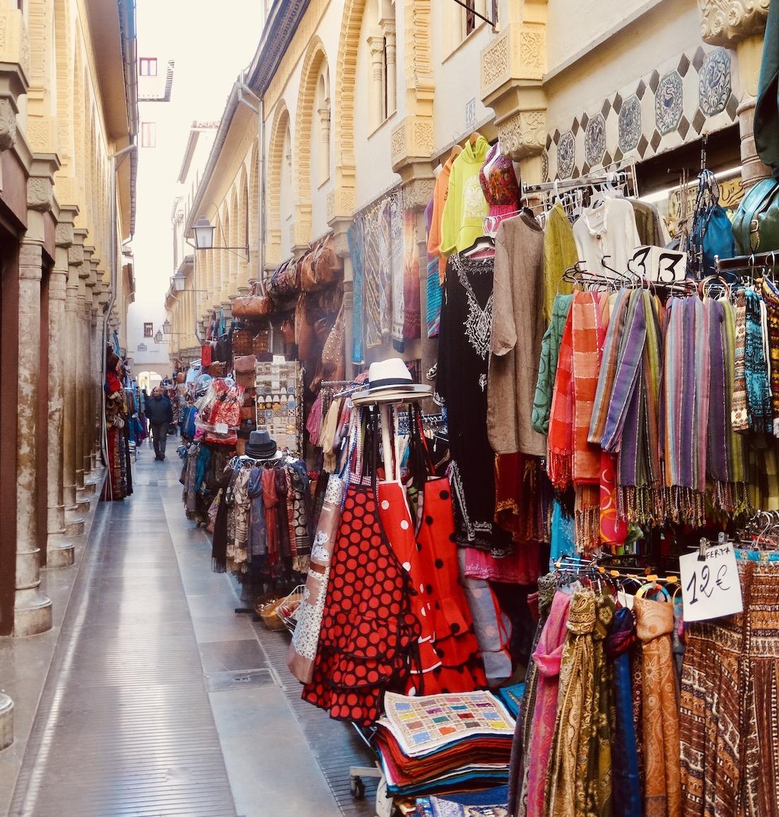 Clothes market Granada.