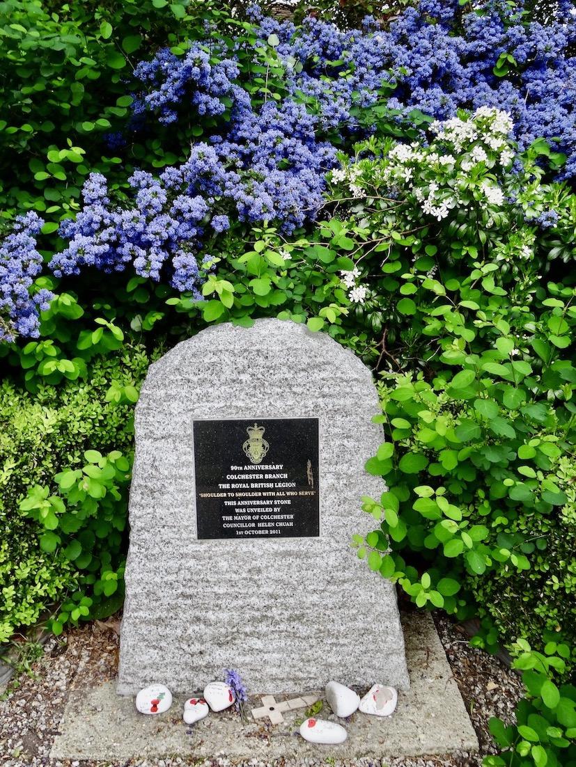 Colchester Royal British Legion Anniversary Stone