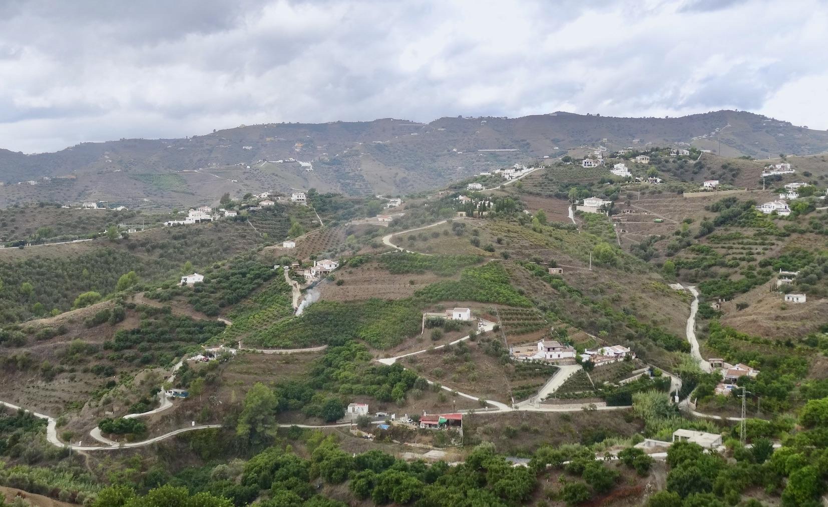 Farm terraces Frigiliana.