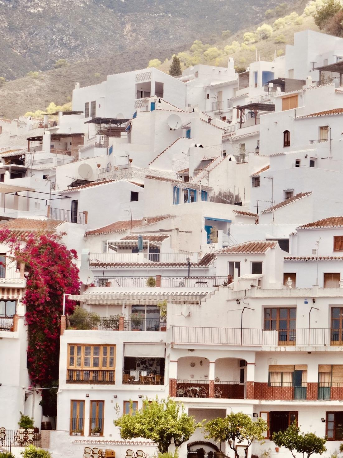 Frigiliana whitewashed town Spain.