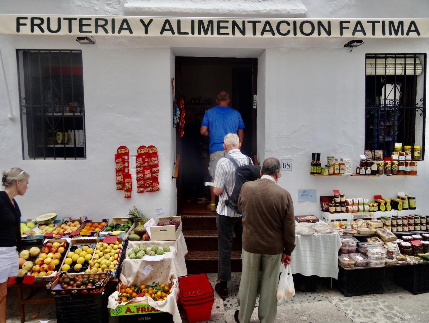 Fruit and veg store Frigiliana Spain.