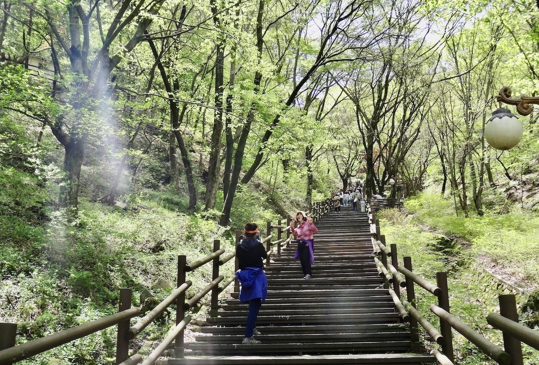 Hiking Maisan Mountain.