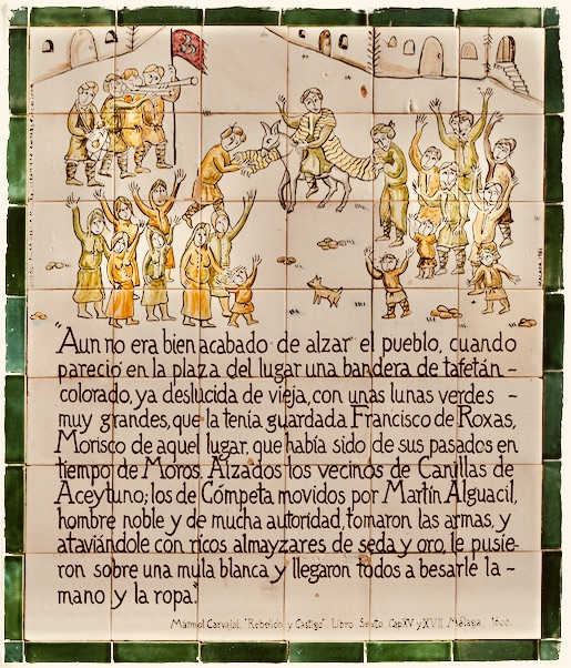 Historical plaque Frigiliana.