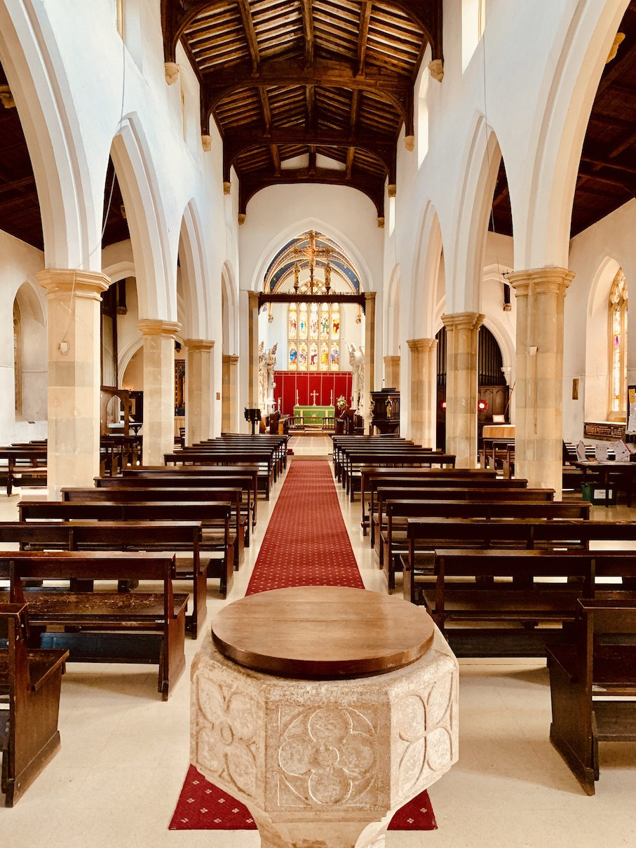 Inside St Mary's Church Old Amersham