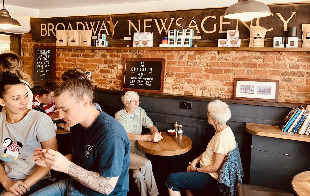 Inside Twelve Twenty Cafe Old Amersham.