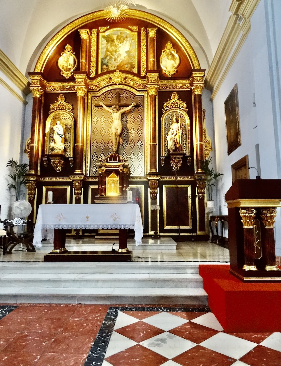 Interior Church San Antonio de Padua Frigiliana.