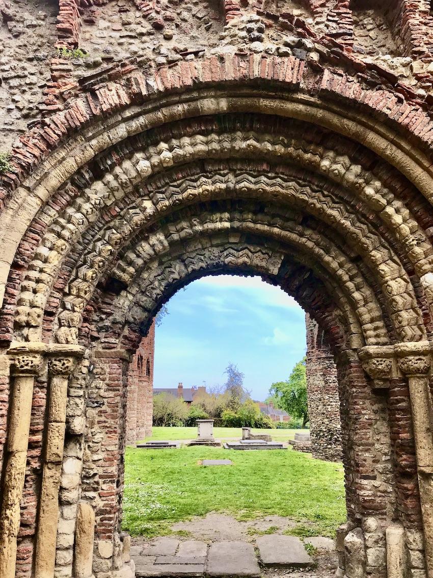 Pardon door St Botolph's Priory.