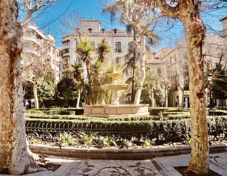 Plaza de la Trinidad Granada Spain.