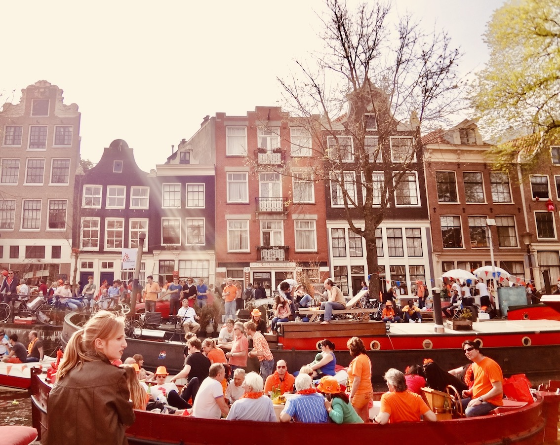 Queen's Day Amsterdam The Netherlands.