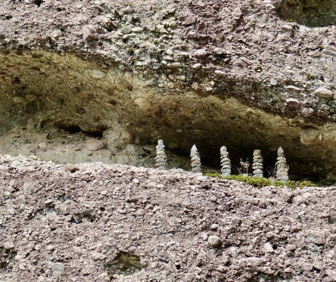 Stone pagodas Tapsa Temple.