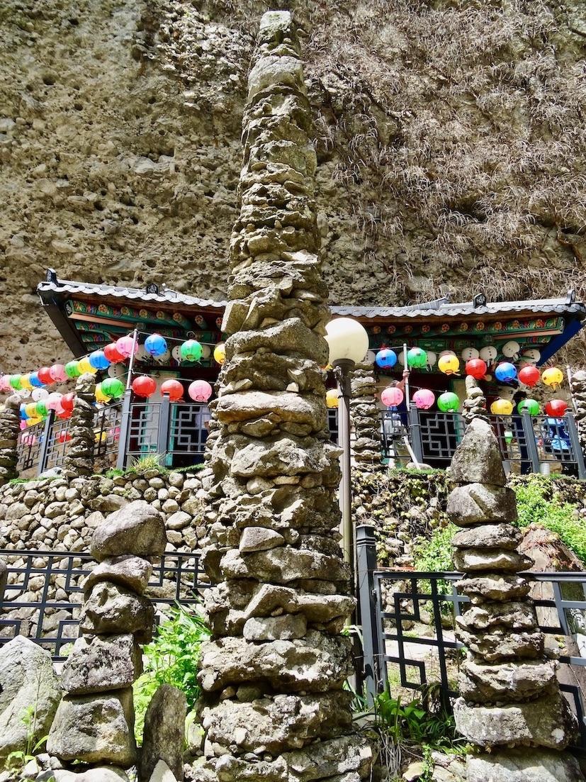 Stone towers Tapsa Temple.