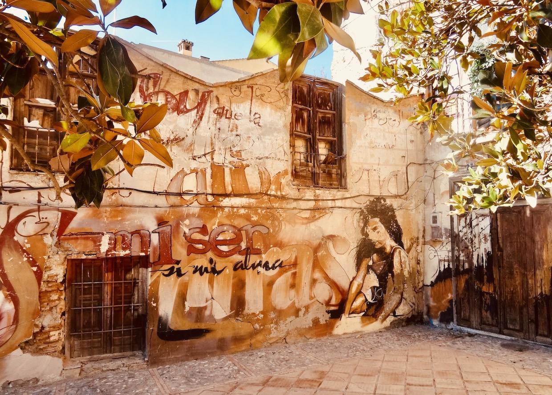 Street art Granada Spain.