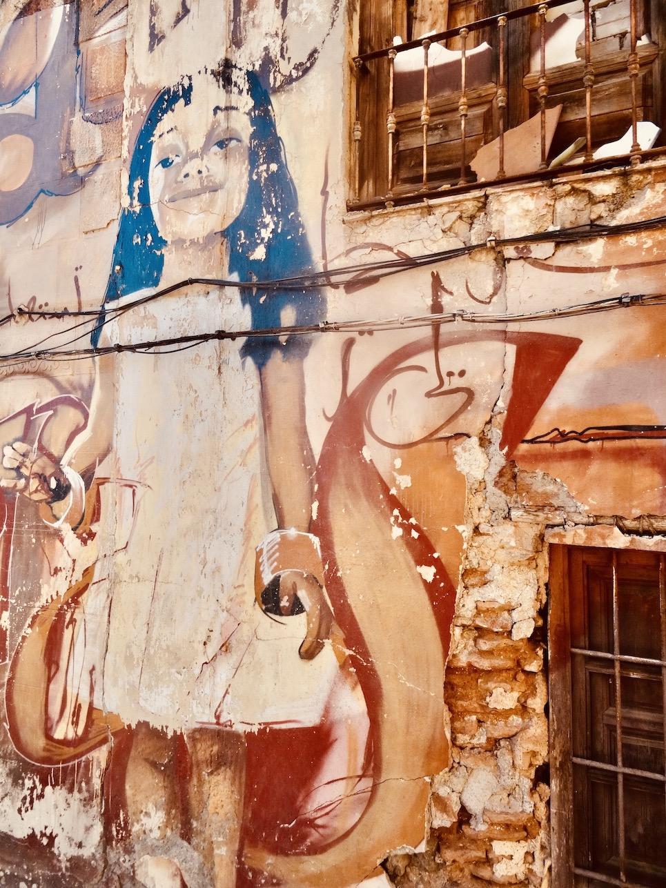 Street graffiti Granada Spain.