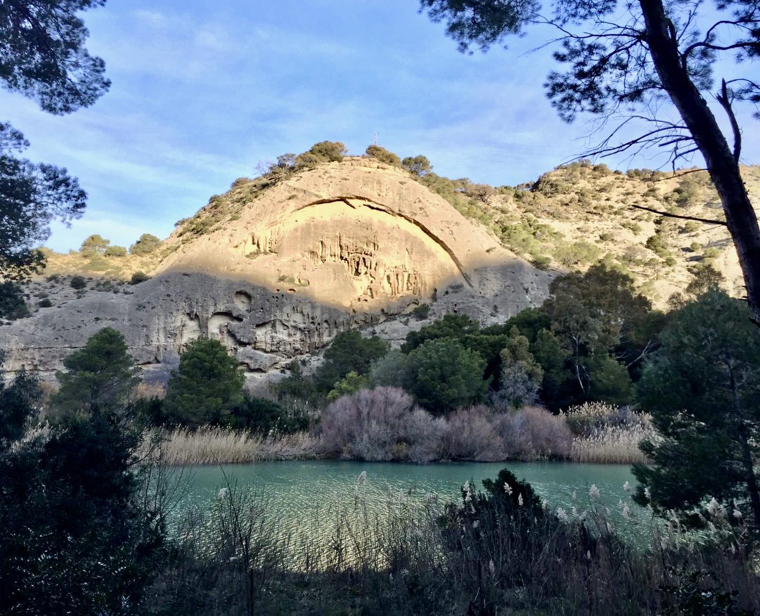 Stunning rock formations El Caminito del Rey.