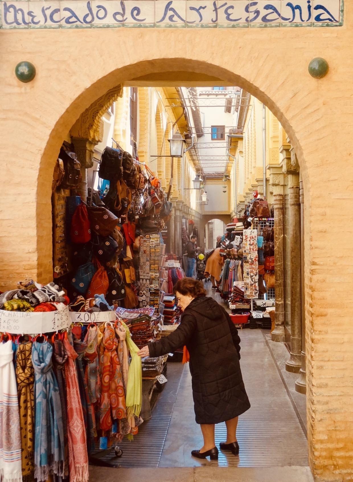 The Artisans Market Granada Spain.