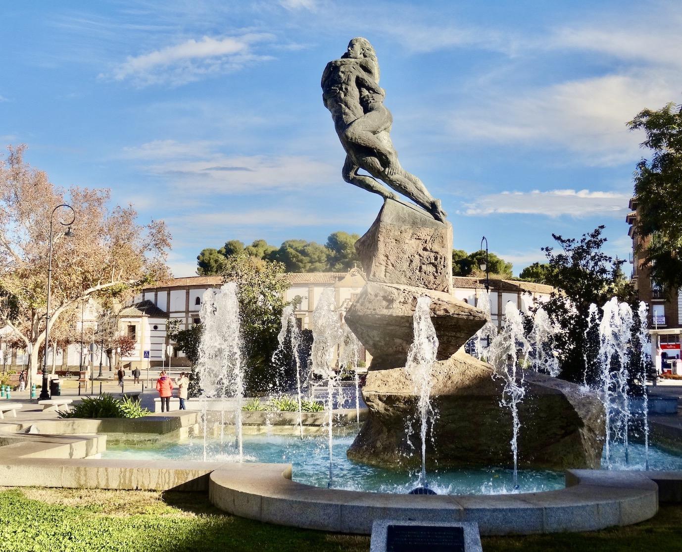 The Lovers Of La Pena Statue Antequera.