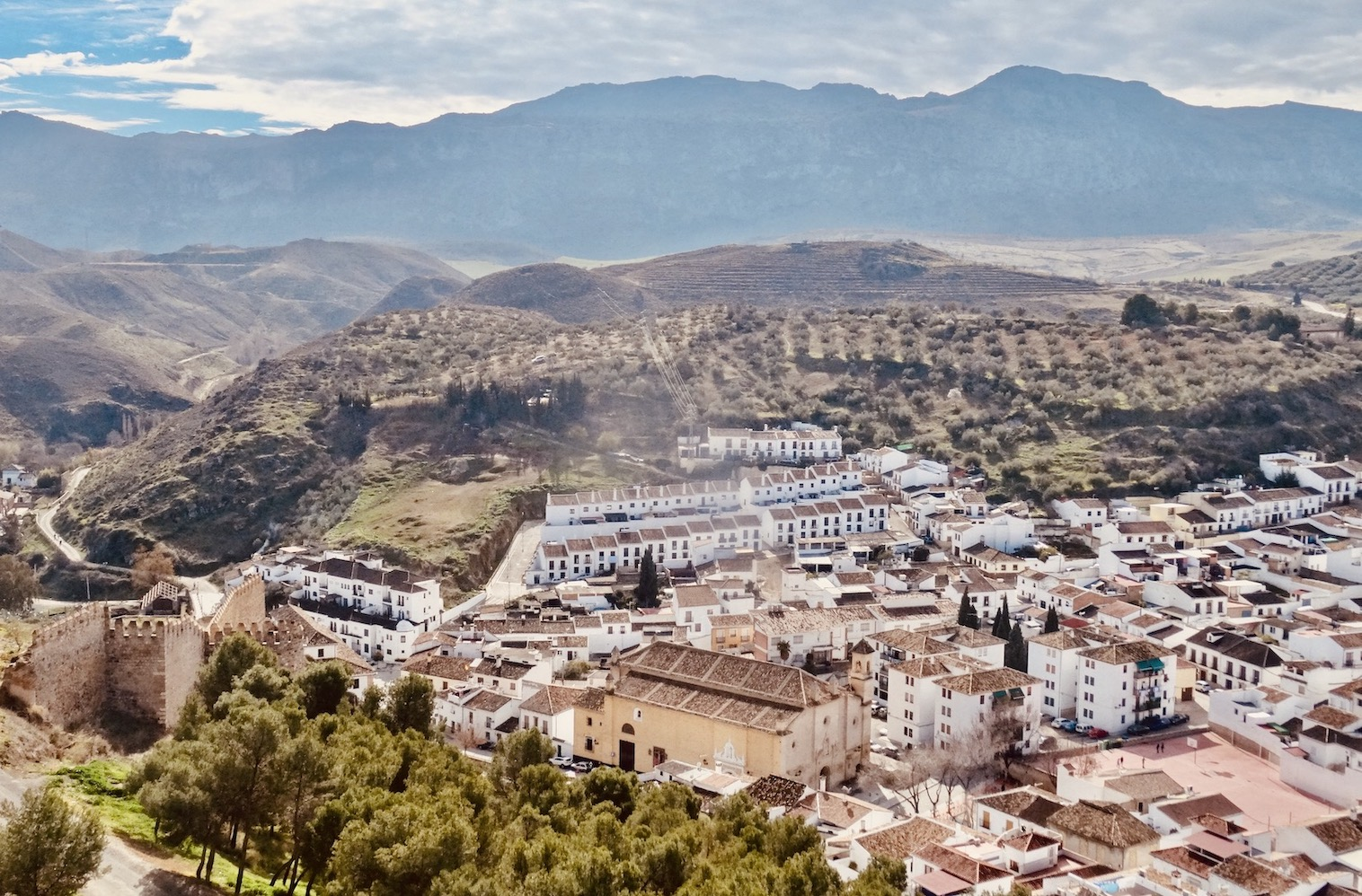 Views over Antequera in Spain.
