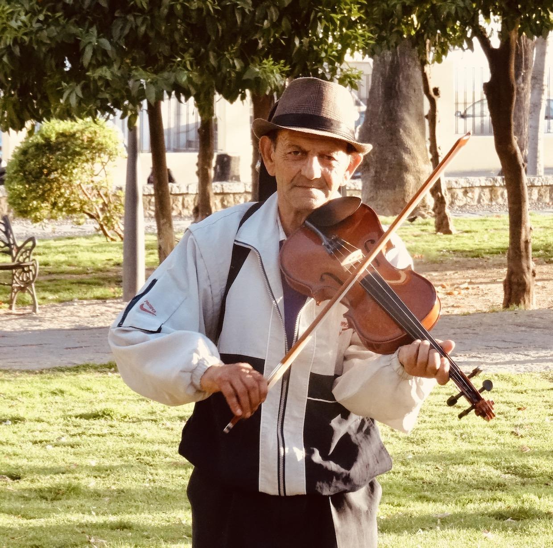 Violinist in Cordoba Spain.