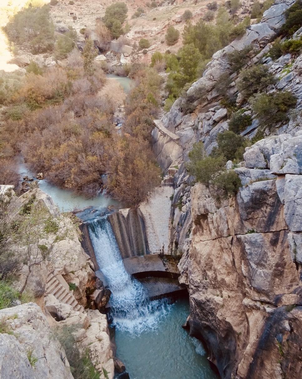 Waterfall El Caminito del Rey.
