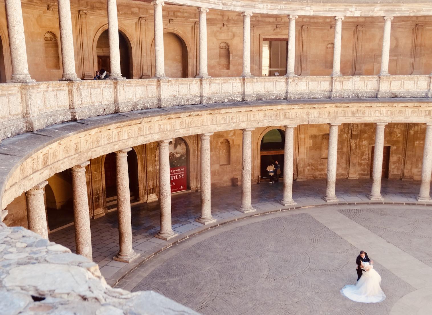 Wedding shoot Palace of Charles V.