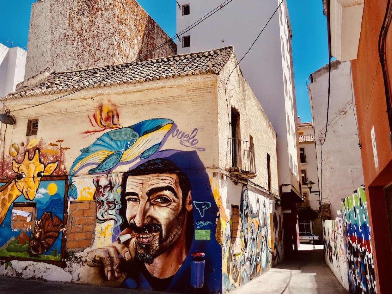 Amazing street art Malaga.