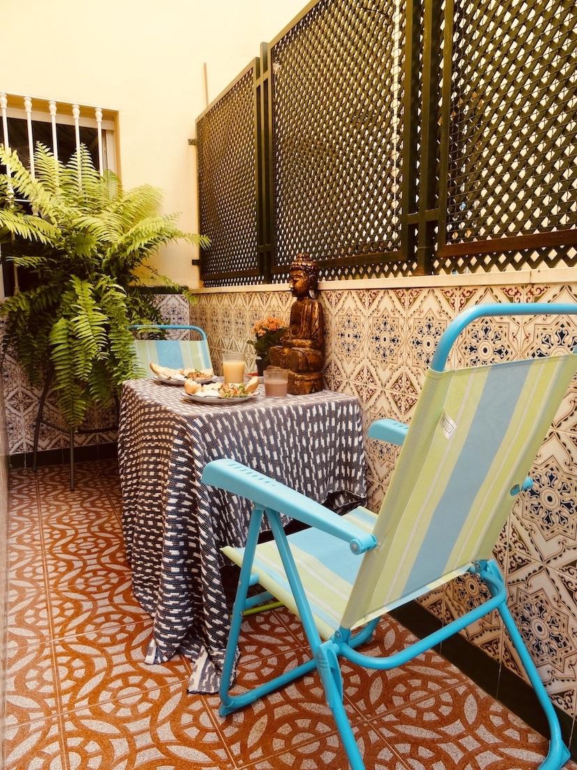 Apartment balcony Malaga.