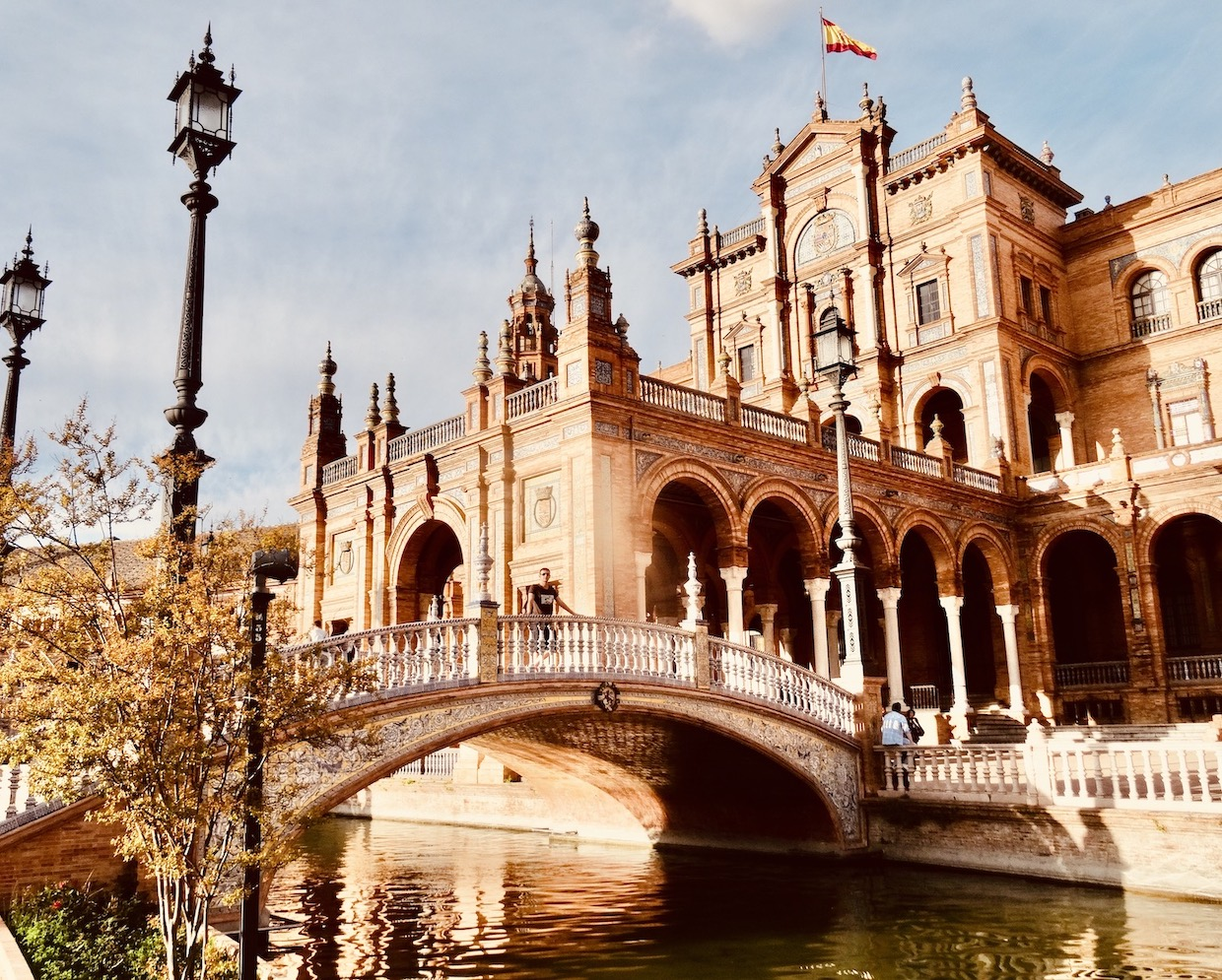 Beautiful bridge Plaza de Espana.
