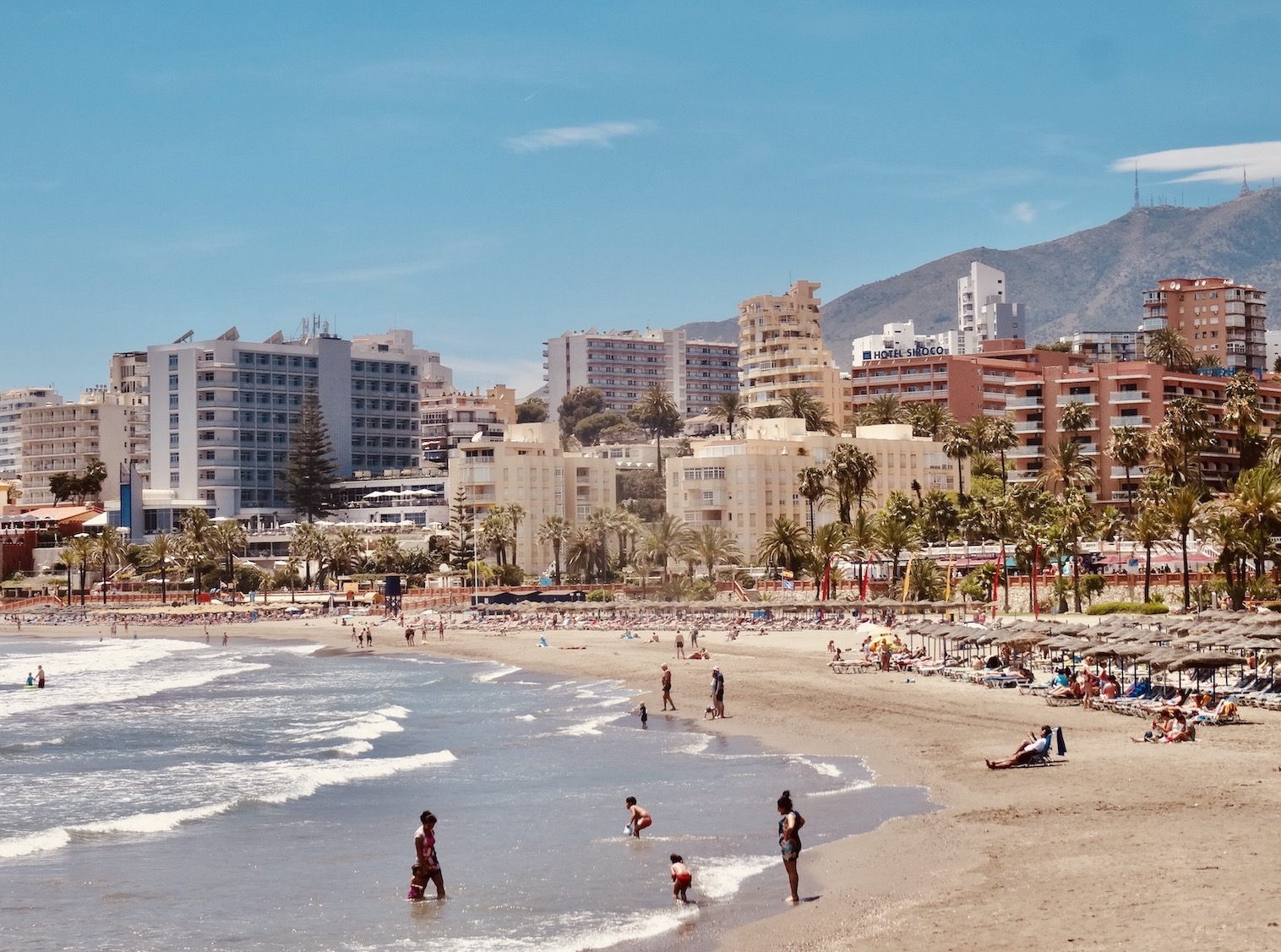 Bil Bil Beach Benalmadena The Costa del Sol.