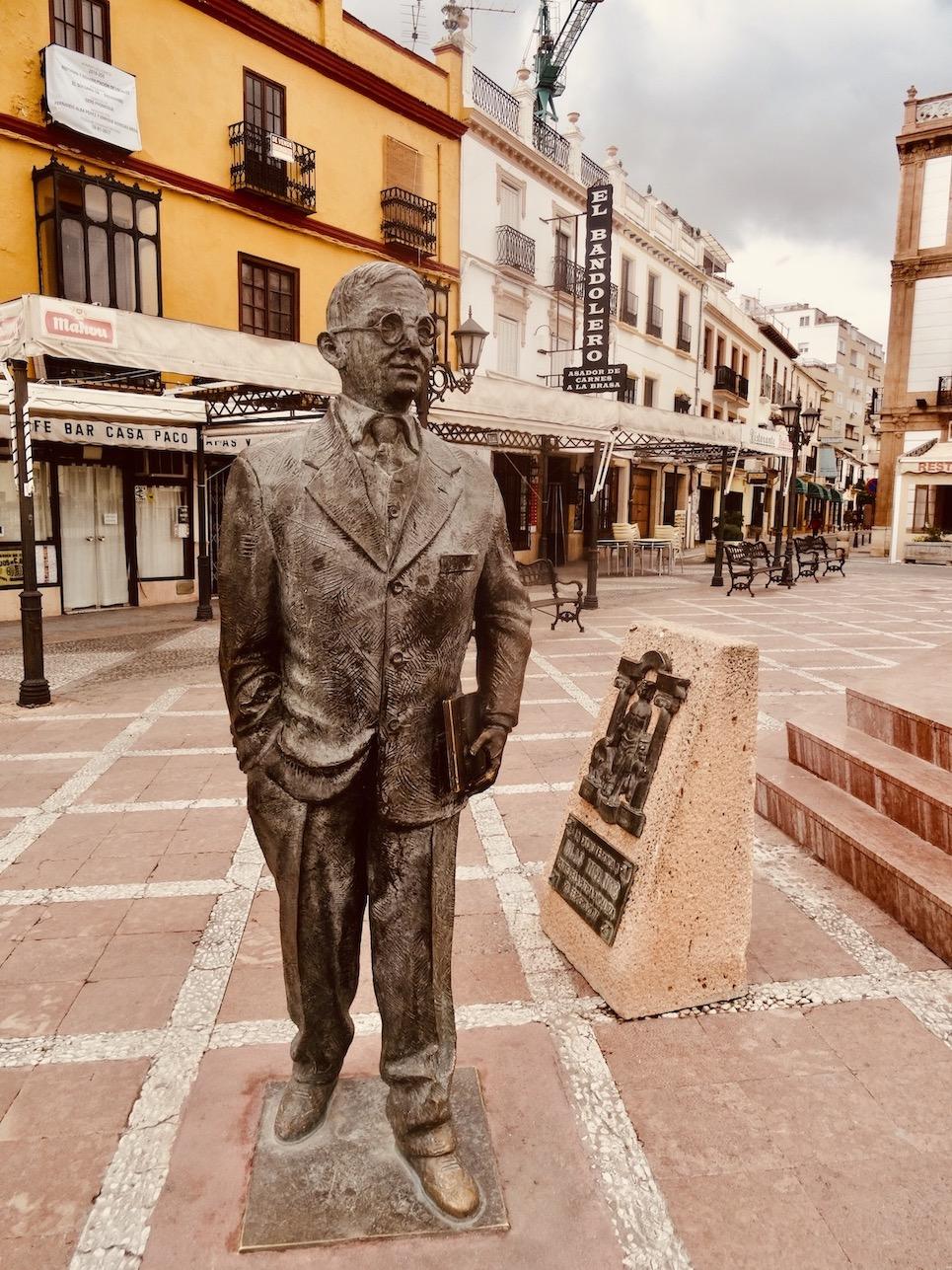Blas Infante statue Ronda.
