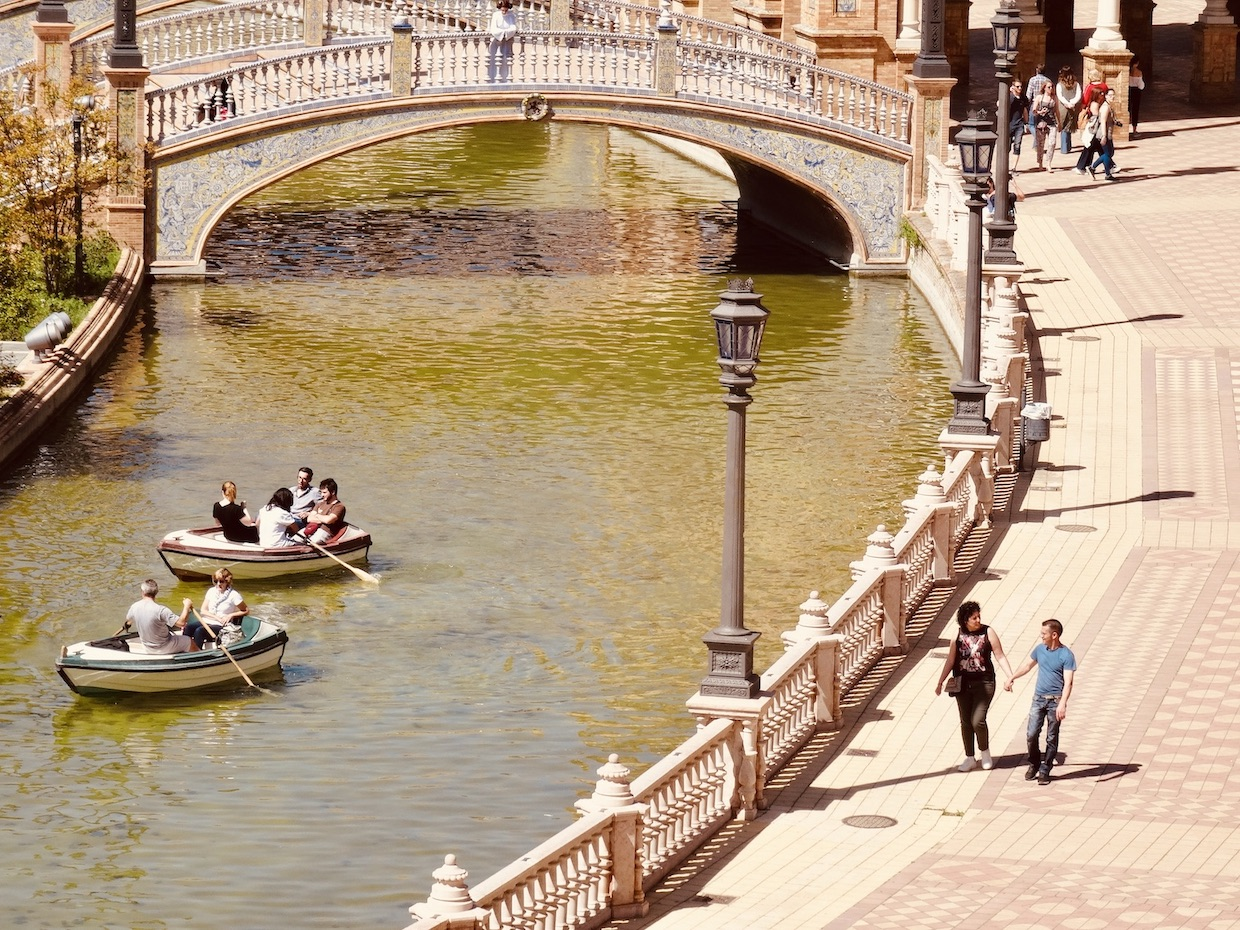 Boating on Plaza de Espana.