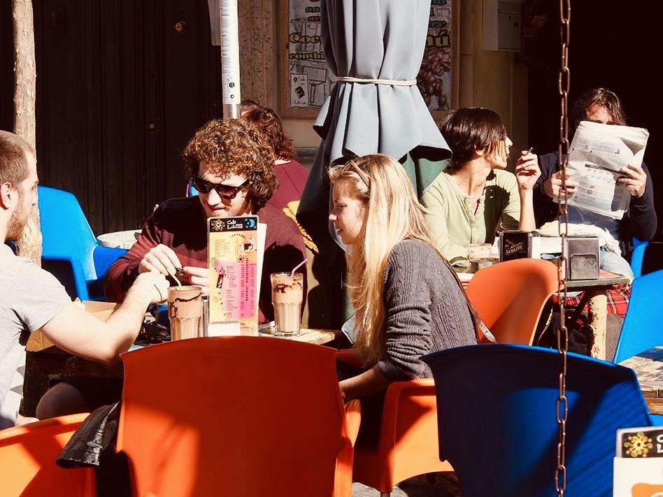 Cafe Con Libros Plaza de la Merced.