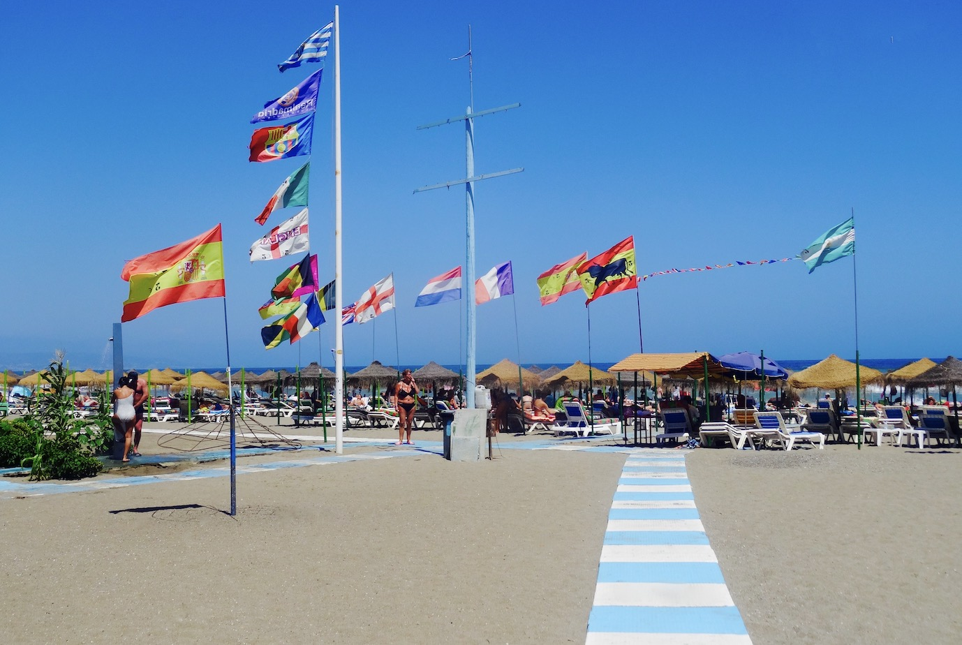 Caracola Beach Torremolinos Costa del Sol.