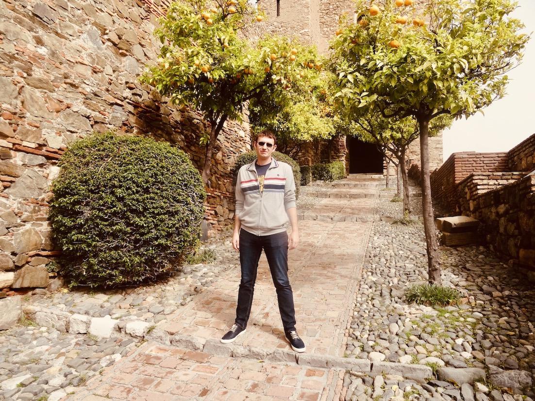 Climbing Malaga Alcazaba.
