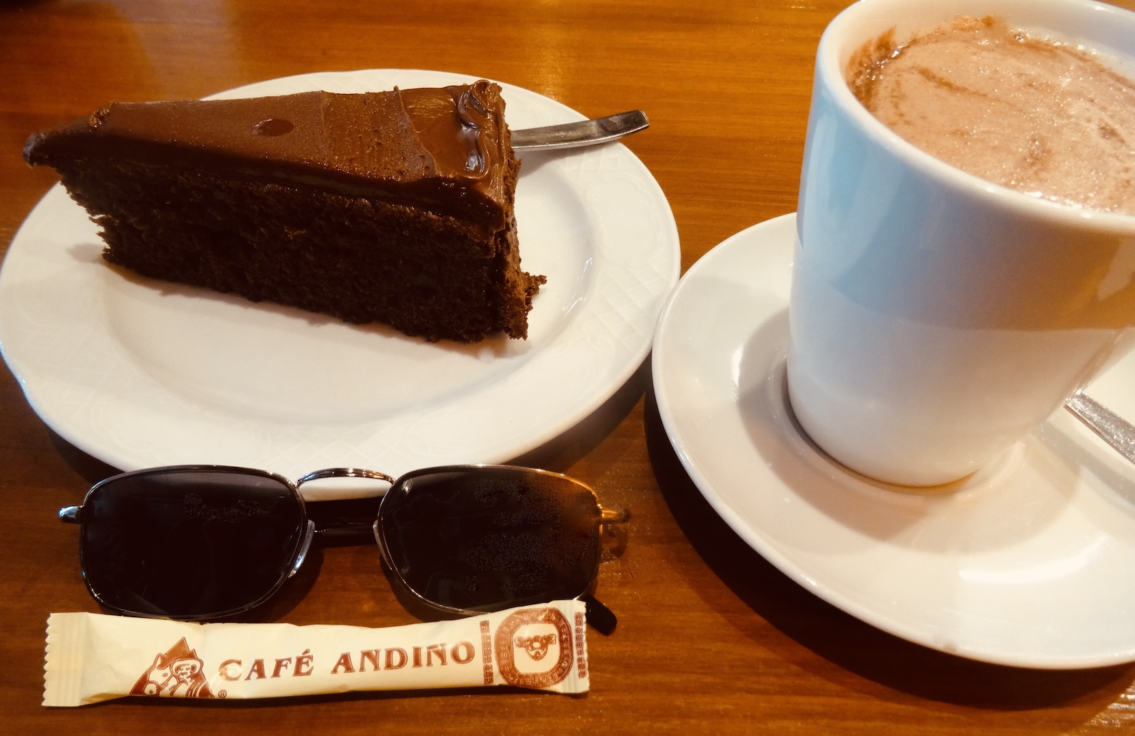 Coffee and cake Cafe Andino Fuengirola.