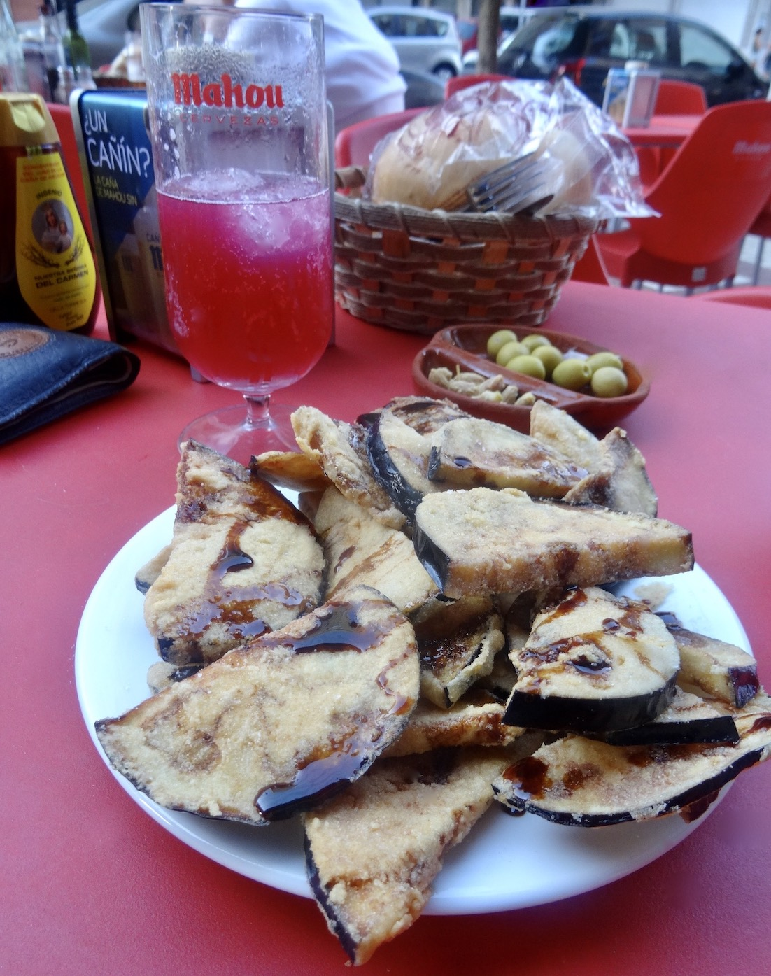 Fried eggplant in honey sauce Malaga