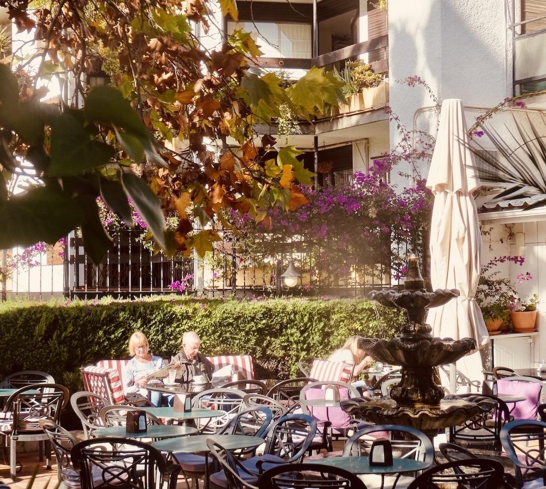 Garden cafe Fuengirola.