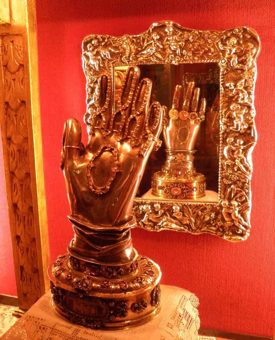 Incorrupt hand of Teresa of Avila.