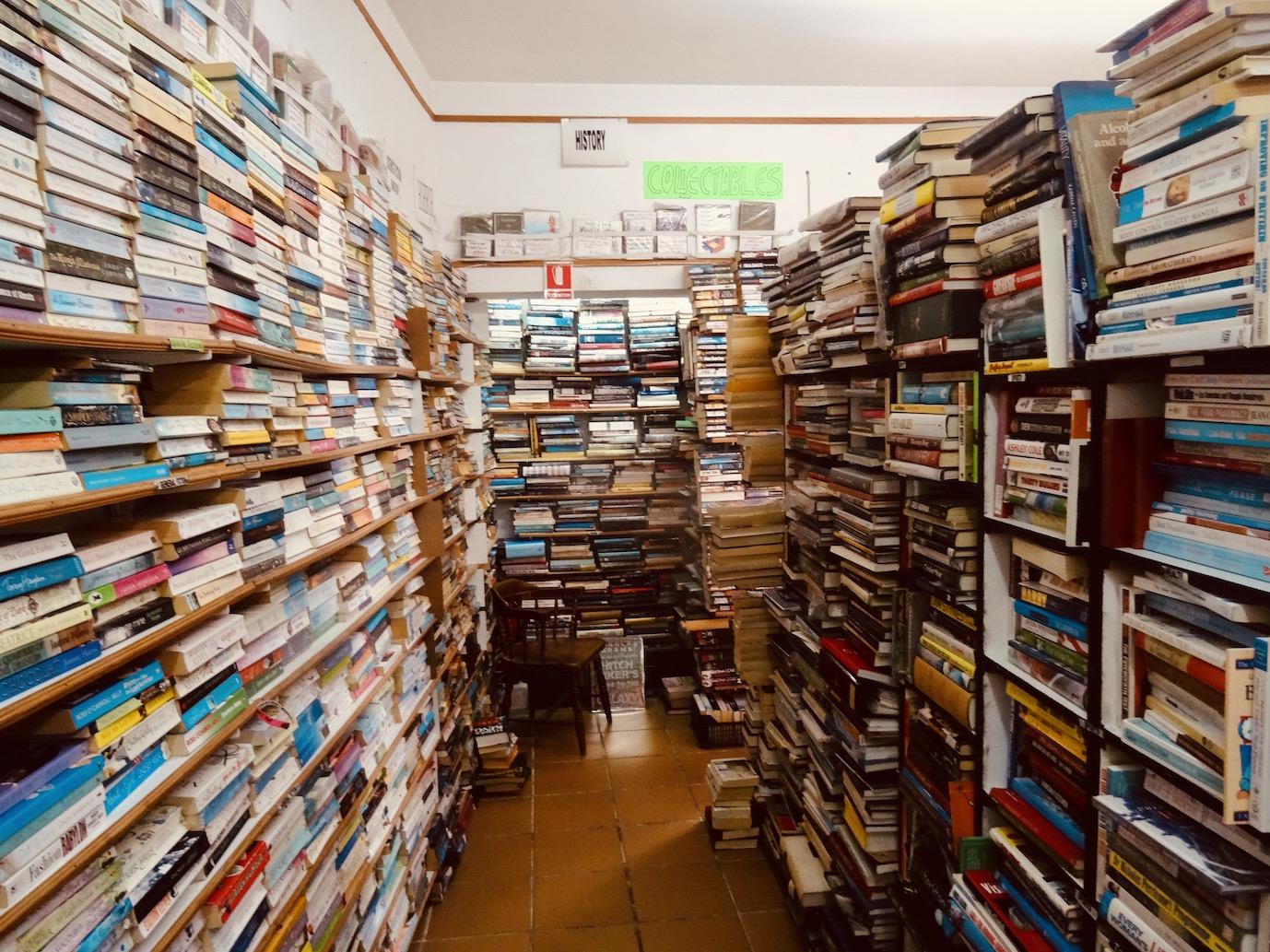 Inside Nerja Book Centre.