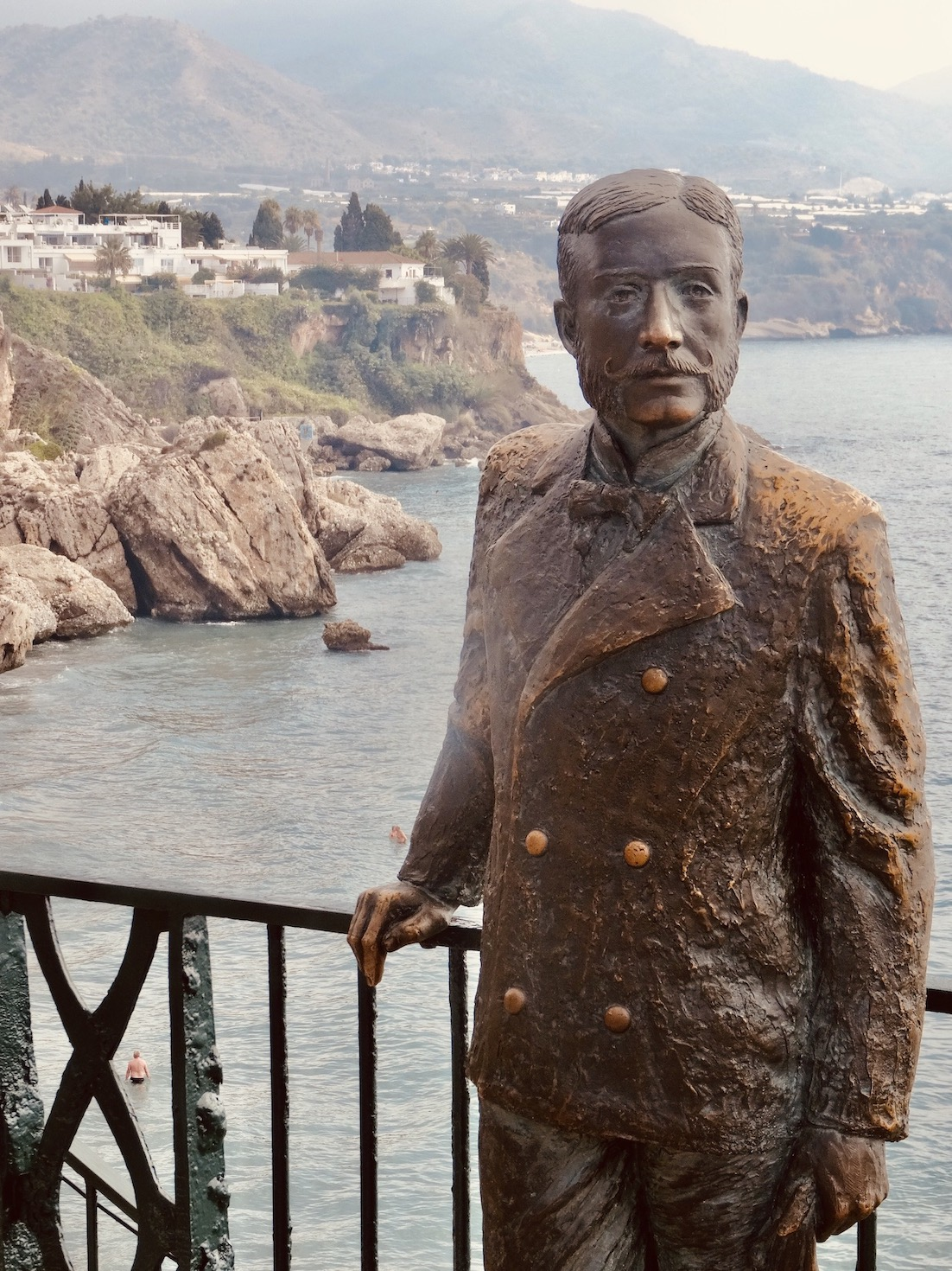 King Alfonso XII Statue Nerja Spain.