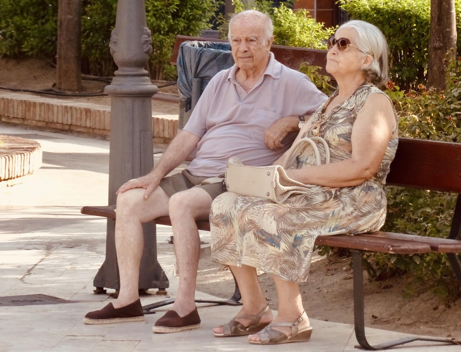 Old couple Nerja Spain.