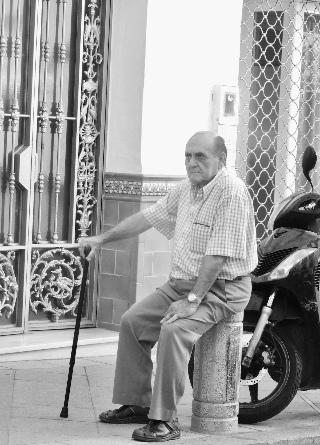Old man Nerja Spain.