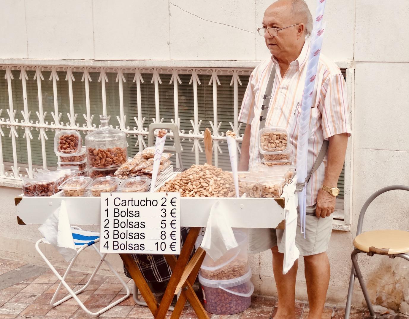 Peanut man Nerja Spain.