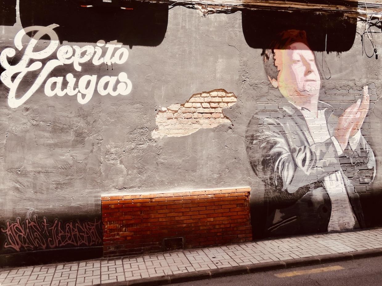 Pepito Vargas mural Malaga.