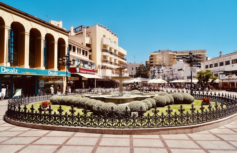 Plaza de La Nogalera Torremolinos Costa del Sol.