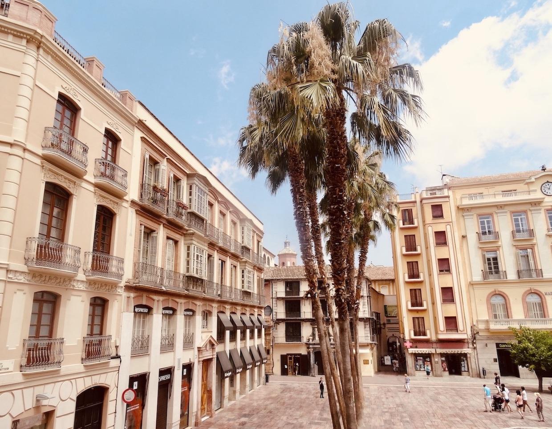 Plaza de la Constitucion in Malaga.