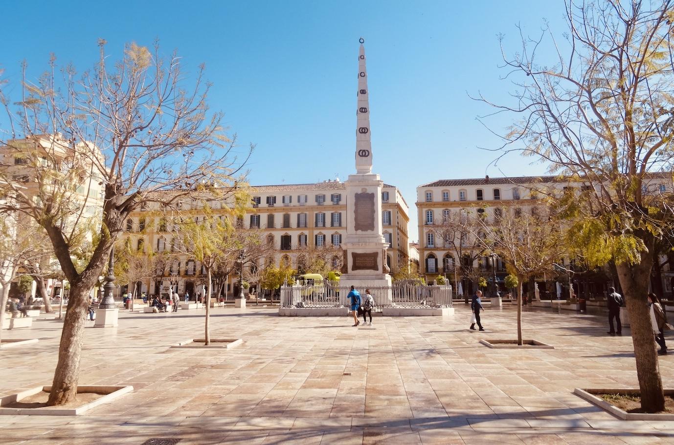 Plaza de la Merced in Malaga.