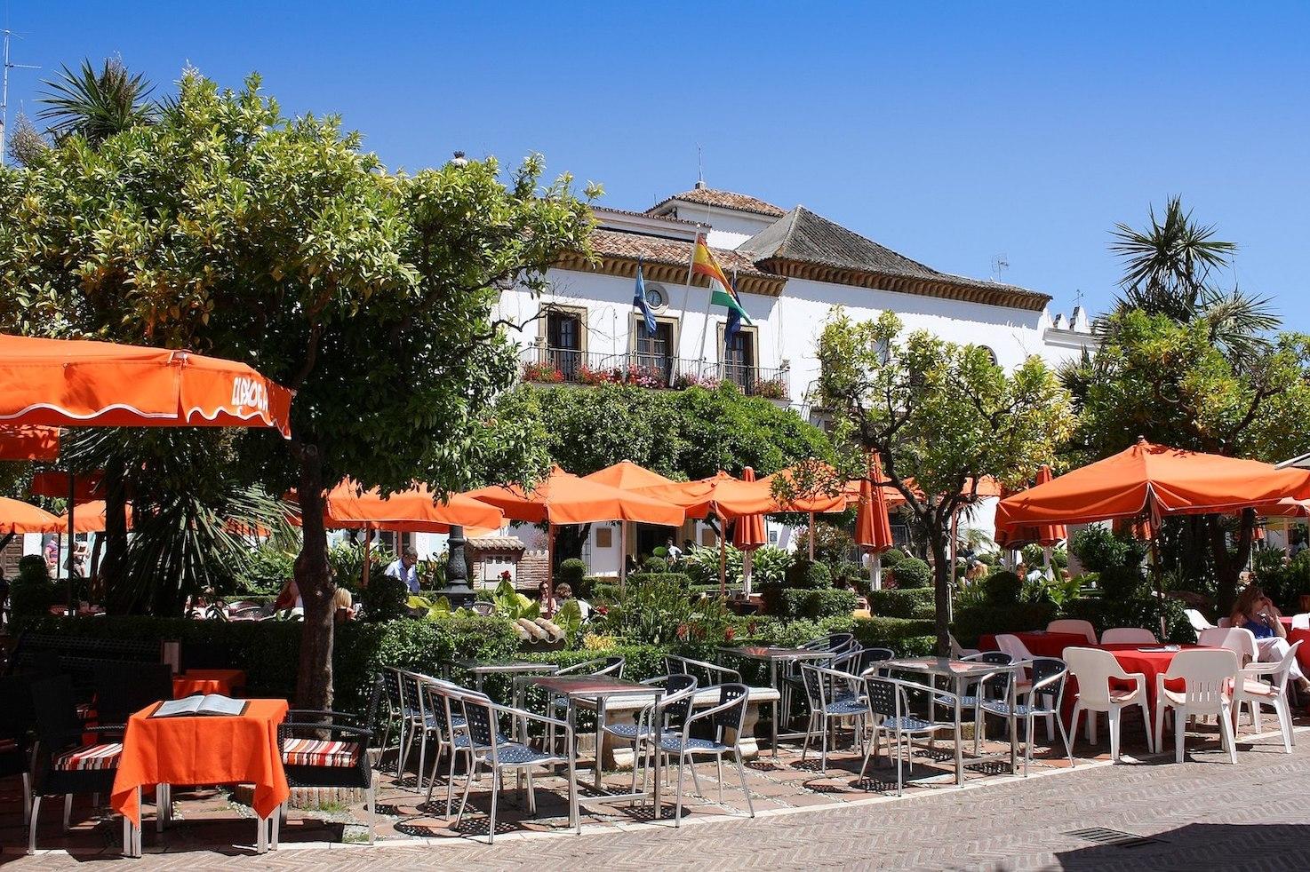 Plaza de los Naranjos in Marbella.