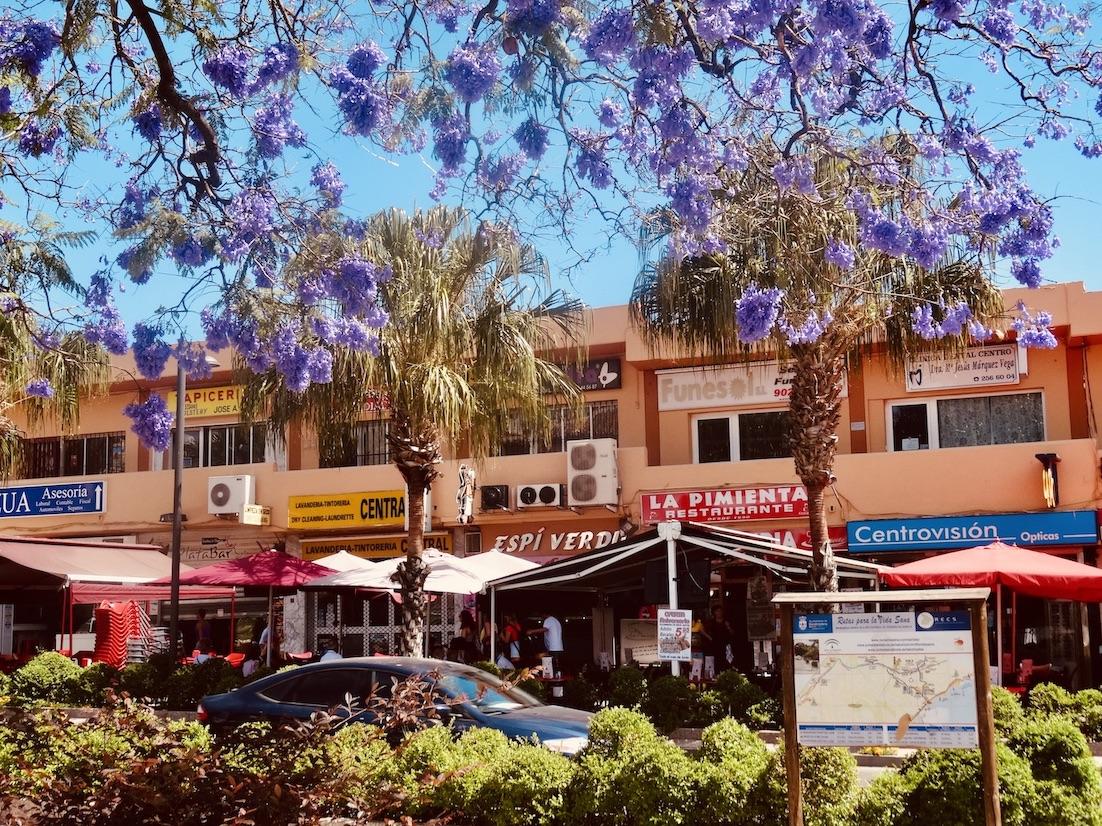 Pretty street Benalmadena Costa del Sol.